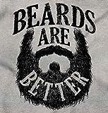Beards are Better Mustache Hipster Humor Zip Hoodie Sport Grey