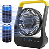 Battery Operated Fan, Super Long Lasting Battery Operated Fans for Camping, Portable D-Cell Battery Powered Desk Fan…