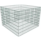 vidaXL Compostador Mallado Y Cuadrado Para El Jardín 100 X 100 X 70 cm
