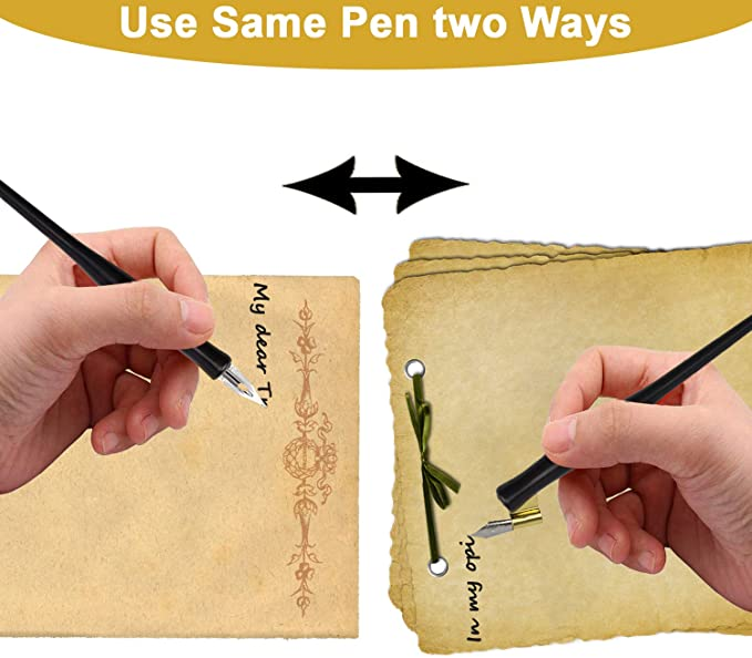 Straight Calligraphy Pen With Travel Storage Universal Removable Replaceable Nib Ferrule Tough Anodized Aluminum Suits Many Nibs Comic G etc