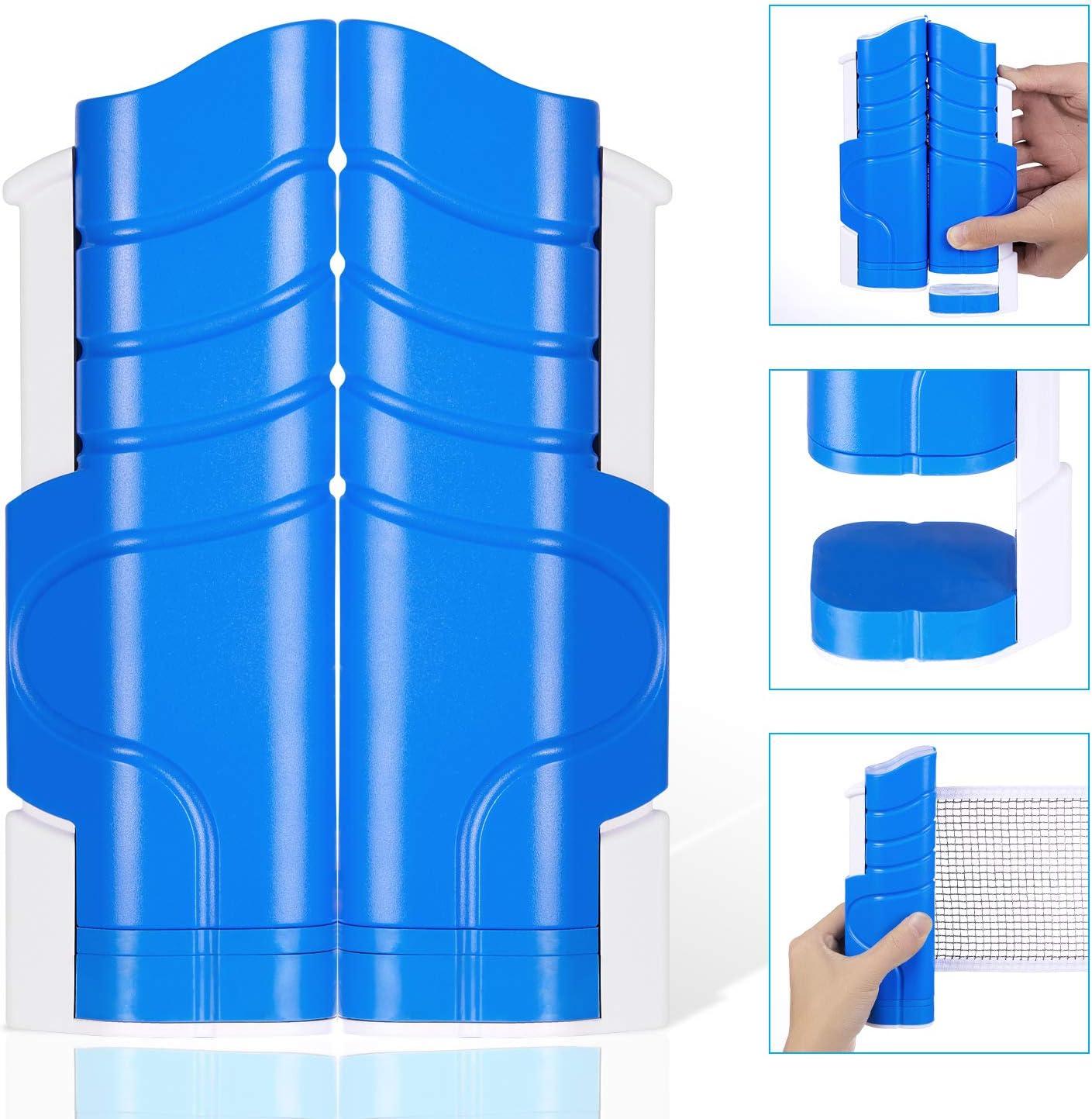 Lunghezza Regolabile 190 x 14,5 cm Yierya Rete da Ping Pong Max Replacement Ping Pong Retrattile Rack Allungabile Portatile e Estraibile Reti da Ping-Pong Morsetti per Staffe