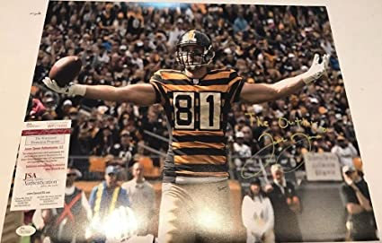 Image Unavailable. Image not available for. Color  Jesse James Autographed  Signed Inscribed Pittsburgh Steelers 16x20 Photo - JSA Authentication 0cd15d534