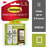 Command Picture Hanging Strips, 4-Small, 8-Medium by 3m USA