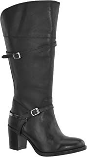JJ Footwear Women's Sydney M/L 34.4 cm – 42.1 cm Calf Leather Boot - Noir - Schwarz Nappa Capri,