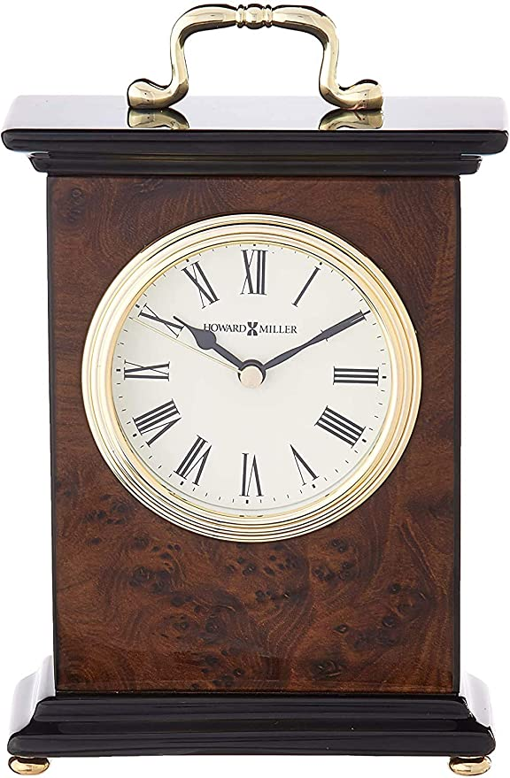 Optical Glass Crystal Pyramid with Quartz Movement Howard Miller Summit Table Clock 645-721