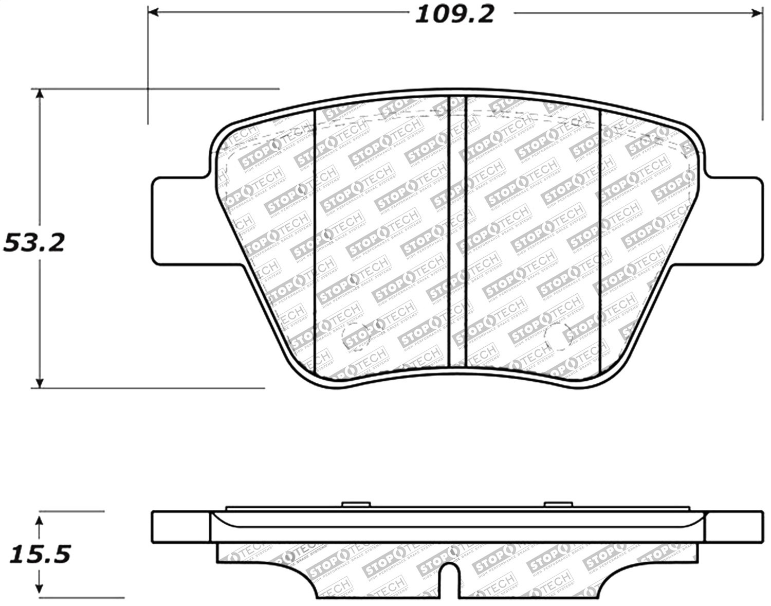 StopTech 309.14560 Sport Brake Pads with Shims and Hardware
