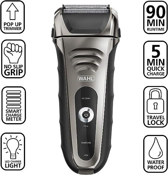 Afeitadora facial Wahl Speed Shave recargable de iones de litio ...