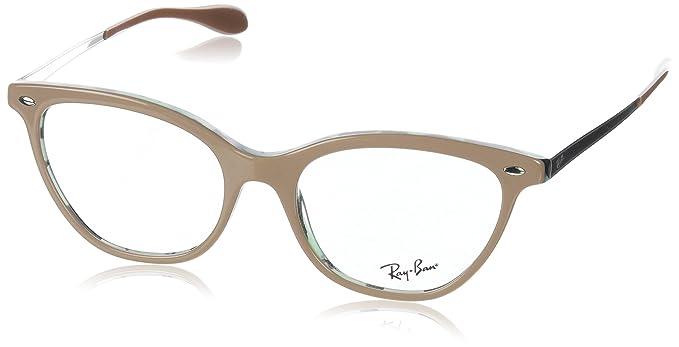 a83165e368 Ray-Ban 0Rx5360, Monturas de Gafas para Mujer, Marrón, 52: Amazon.es: Ropa  y accesorios