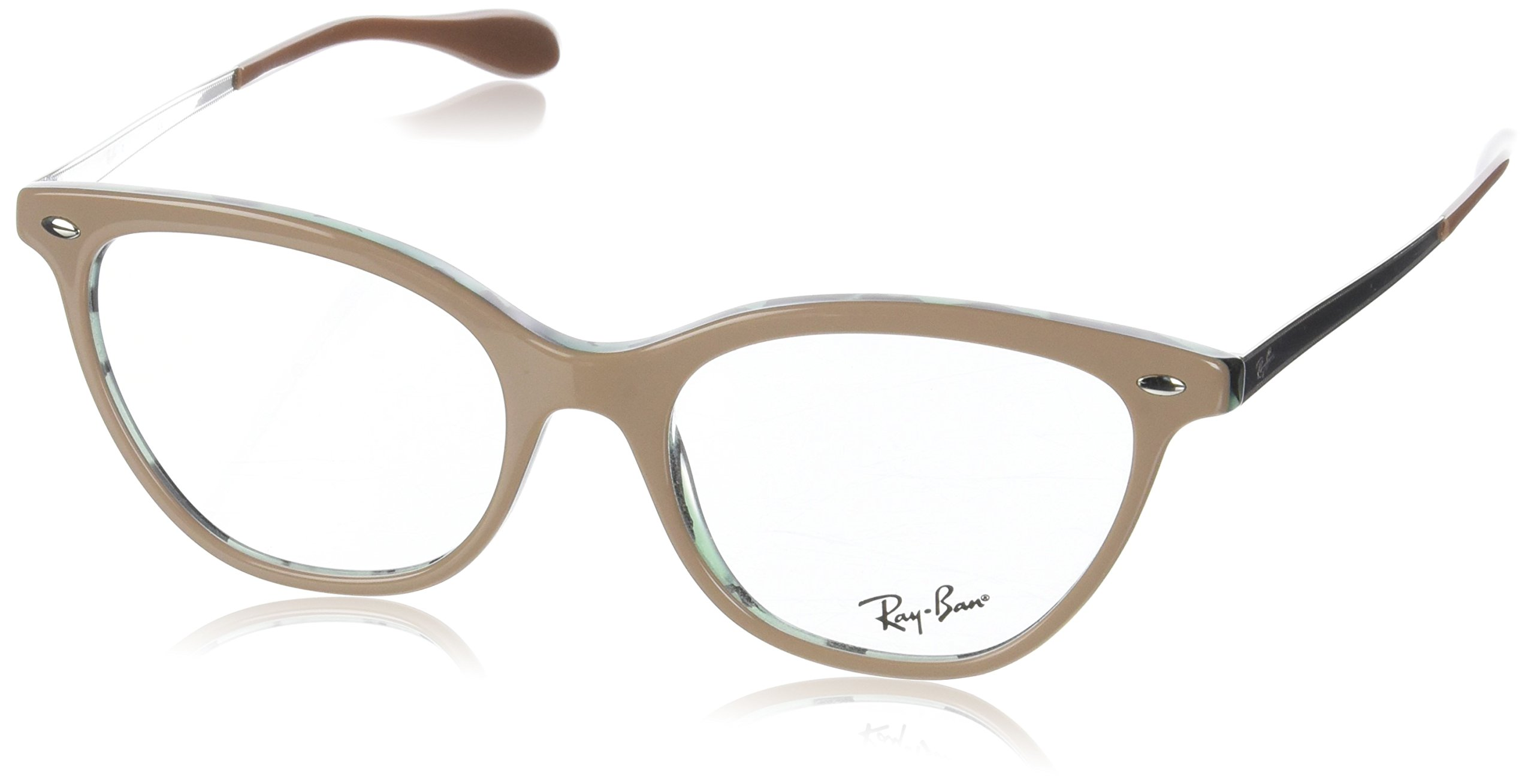 Ray-Ban Women's RX5360 Eyeglasses Top Beige On Havana Green 54mm