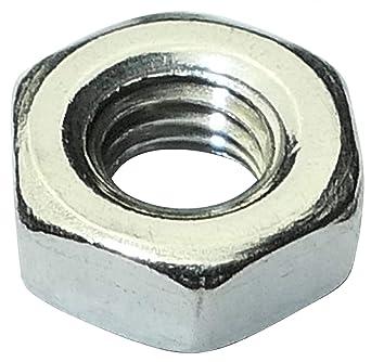 100 pezzi Dadi esagonali M3 in acciaio INOX A2-50 DIN 934