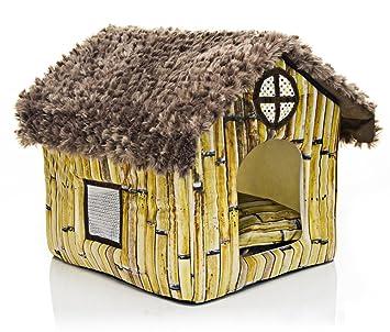 Amazon.com: ospet Portable perro casa Cálido y acogedor ...