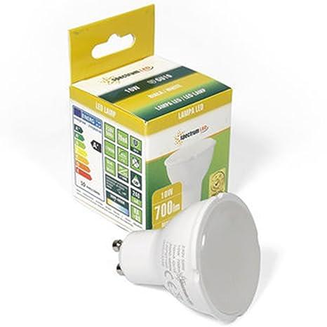 LED GU10 10 W Foco Bombilla en tono con 3600 – 4800 Kelvin, ...