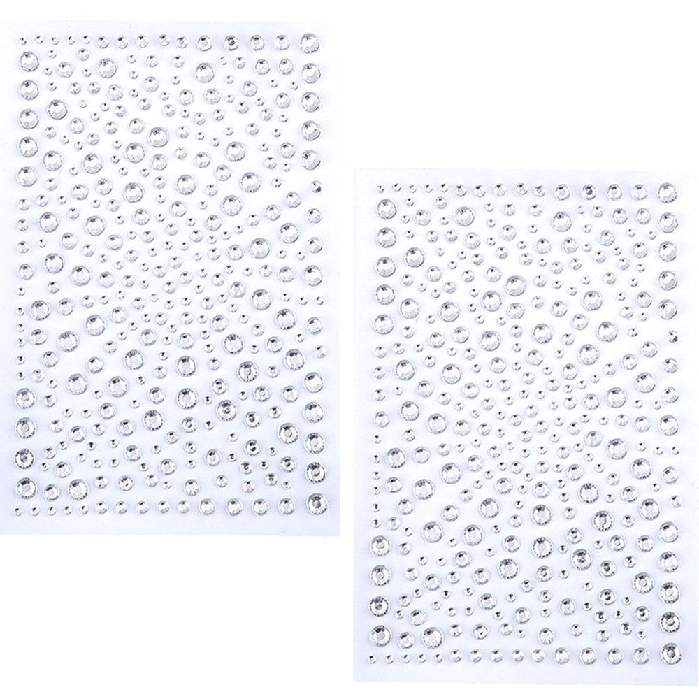eBoot 650 Pieces Self Adhesive Bling Rhinestone Stickers (Clear)