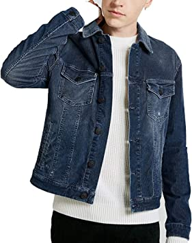 Denim Jacket Men's Cotton Denim Couple Jacket Short Slim