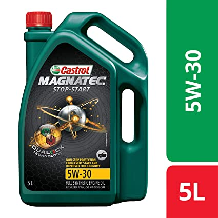 Castrol MAGNATEC Stop-Start 5W-30 Full Synthetic Engine Oil for Petrol,  Diesel and CNG Cars (5L)