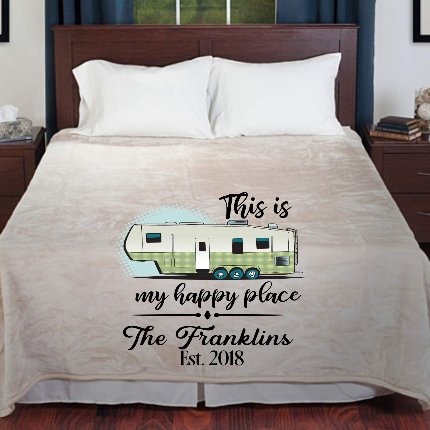 5th Wheel Camper Personalized Blanket