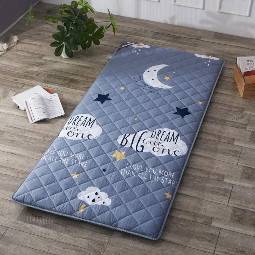 I 120x200cm(47x79inch) Breathable Mattress Mat Topper Pad, Foldable Sleeping Bed Pad Tatami Bed Roll Floor Mat Japanese for Dorm Home -c 180x200cm(71x79inch)