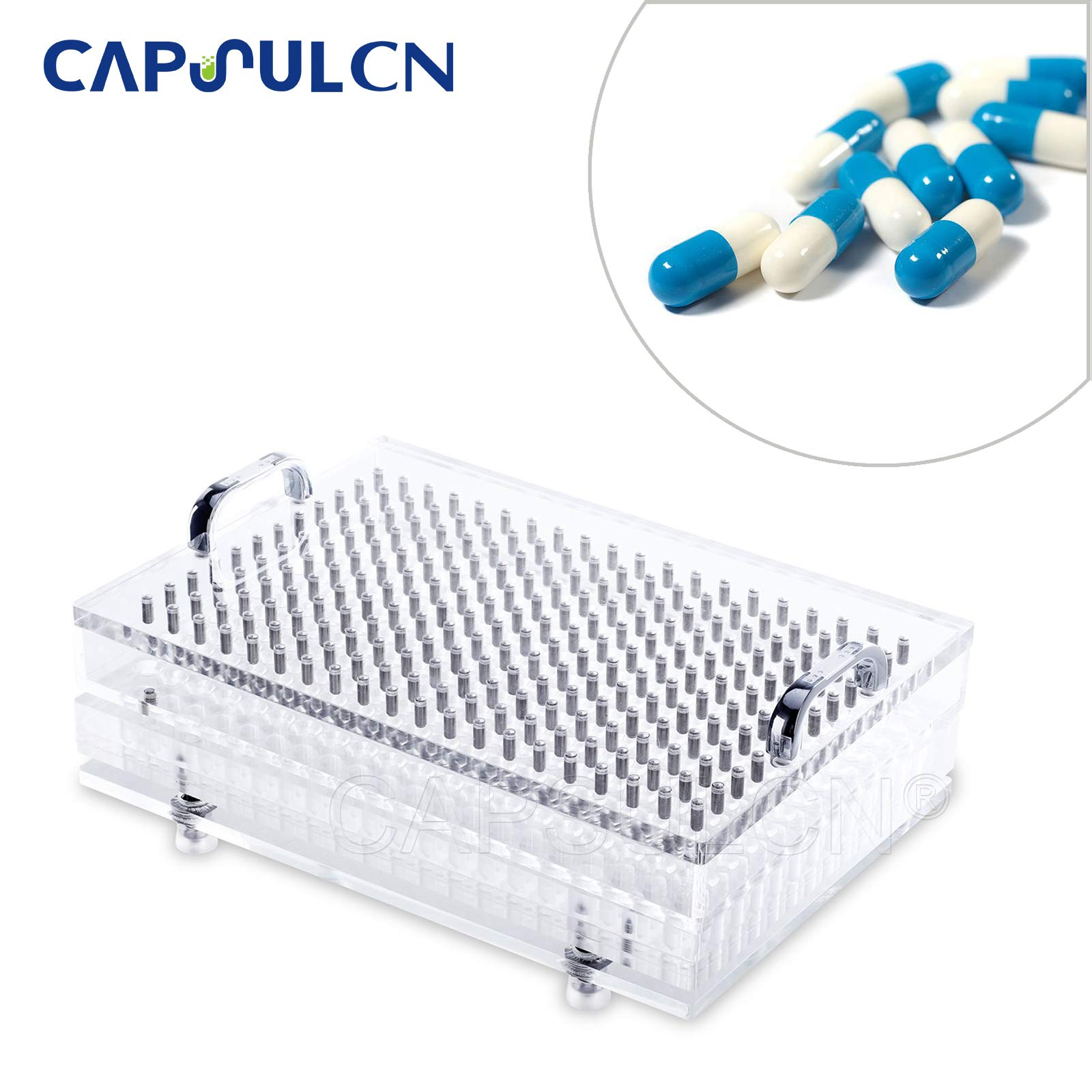 New Acrylic CN-240CL Manual Capsule Filling Machine Size 0 for Separated Empty Capsules 240 Holes