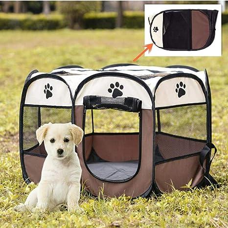 VICTORIE Portátil Carpa Plegable para Mascotas Gato Perro Tienda campaña Valla Cama Deportivos Juegos Exterior Interior