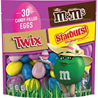 Mars M&M'S, Twix & Starburst Chocolate Candy-Filled Easter Eggs Bag, 11.04 Oz. 30 Count