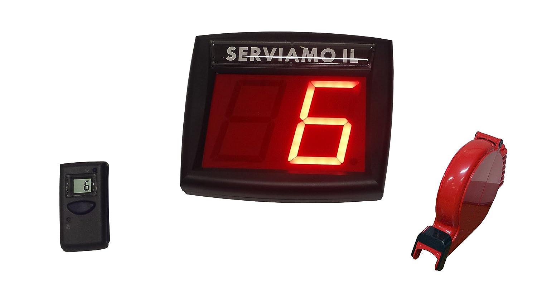 Sistema de gestión de colas completo Rojo con control remoto LCD: Amazon.es: Oficina y papelería