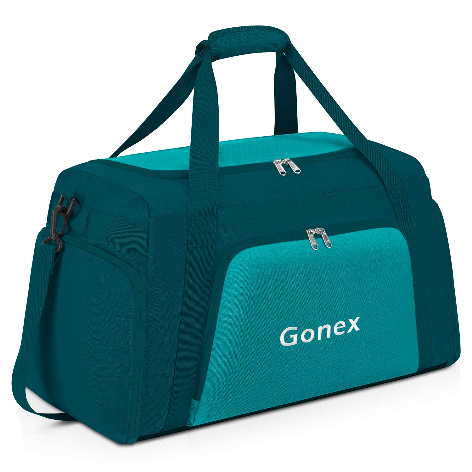 Gonex 60L Travel Duffle Bag Weekender Overnight Duffel Bag with Shoe Compartment