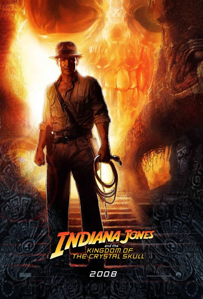 INDIANA JONES AND THE KINGDOM OF THE CRYSTAL SKULL MOVIE POSTER 2 Sided ORIGINAL INTL 27x40