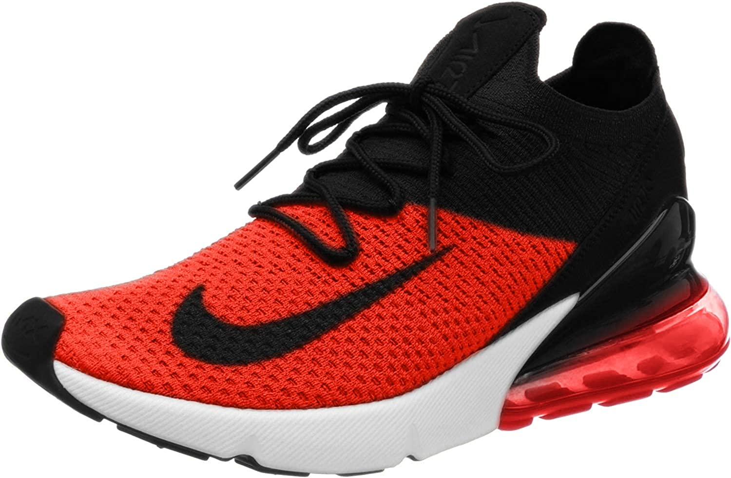 Nike Men's Air Max 270 Flyknit Fashion Sneakers (10, Chili  Red/Black/Challenge Red/White)