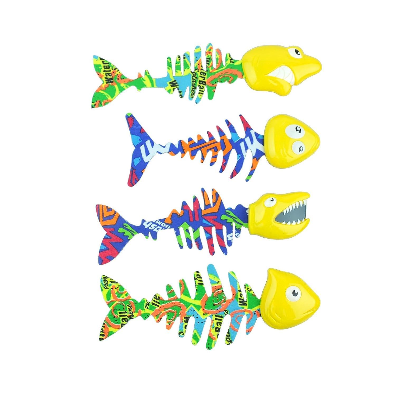 Bid Buy Direct® confezione da 4luminoso piscina acqua Catch Fish Game   Underwater Pool Diving Toys set   Migliora il nuoto/immersione abilità di gioco e divertimento.