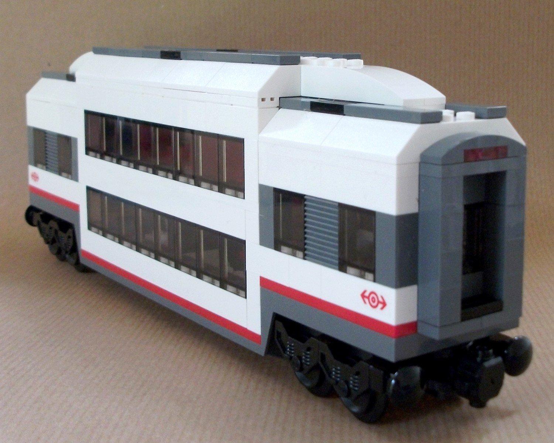 Lego Train Carriage Custom Club Car Double Deck Passenger Sleeper