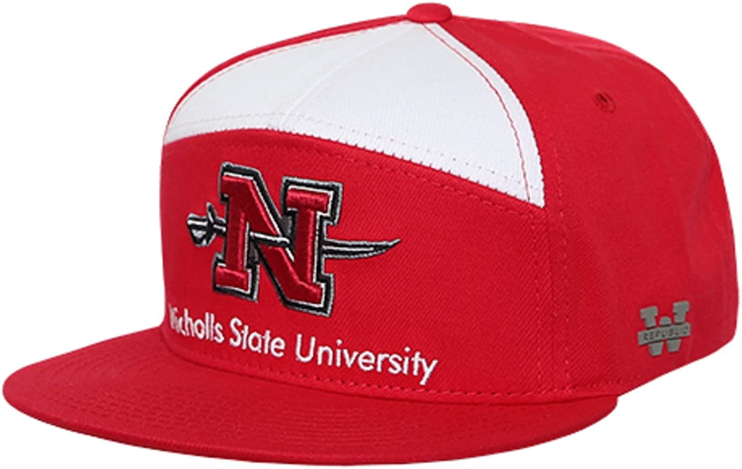 NCAA Nicholls State University Colonels College Fitted Caps Hats Red
