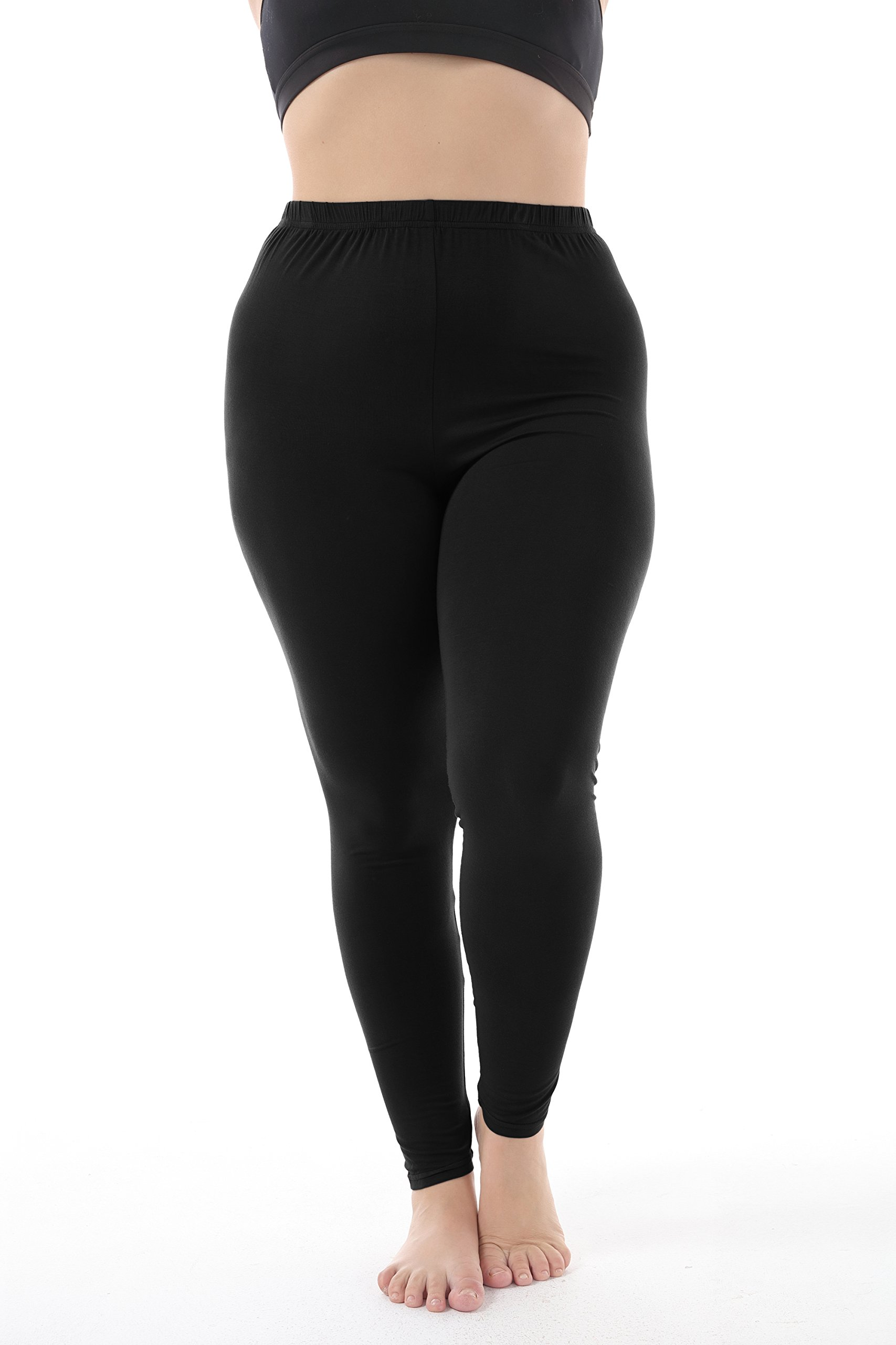 a7db76efb51 Zerdocean Women s Plus Size Modal Lightweight Full Length Leggings Black 3X  - PartialUpdate   Leggings   Clothing