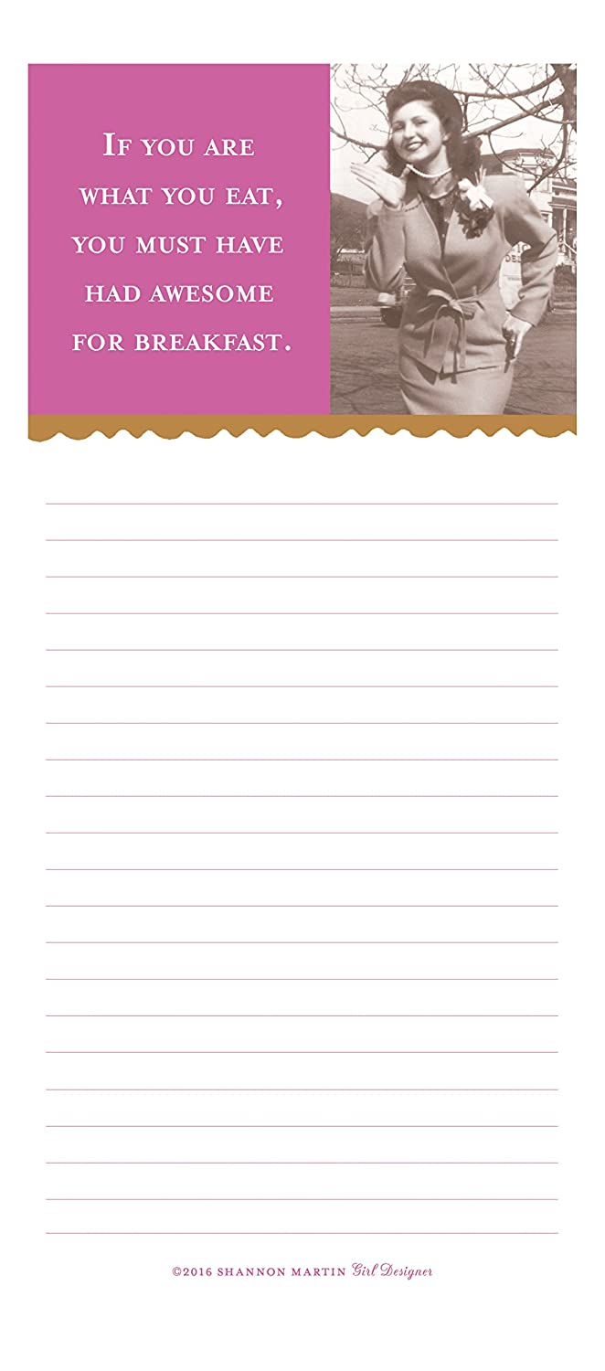 Amazon shannon martin design list pad awesome for breakfast amazon shannon martin design list pad awesome for breakfast home kitchen kristyandbryce Images