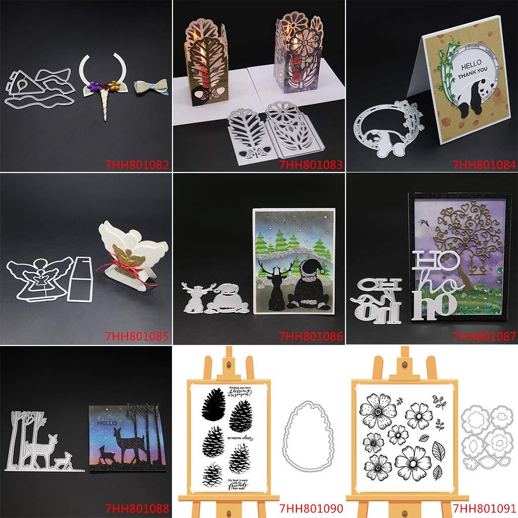 Fustella per Album Fai da Te Scrapbooking Foto Cartoline Decorazione Fatto a Mano Natale San Valentino Compleanno Regali COLUDOR Timbro in Silicone