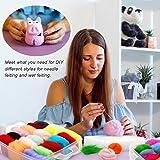 Needle Felting Kit 109Pcs Set, WEST BAY Wool Roving 36 Colors with Complete Felt Tools and Storage Box Needle Felting Starter Kit for DIY Craft Animal Home Decoration Valentines Gift