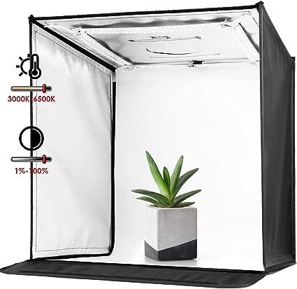 Amzdeal - Caja de luz para estudio fotográfico (60 cm, temperatura ...
