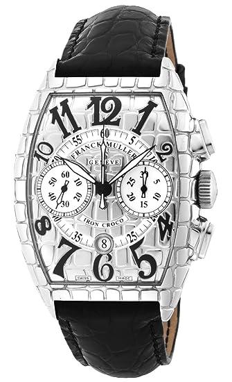 5a930155acaf [フランクミュラー]FRANCK MULLER 腕時計 アイアンクロコ シルバー文字盤 自動巻 クロノグラフ