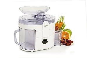 Elite Gourmet EJX-8700 MaxiMatic Juice Extractor, 250-watt, White