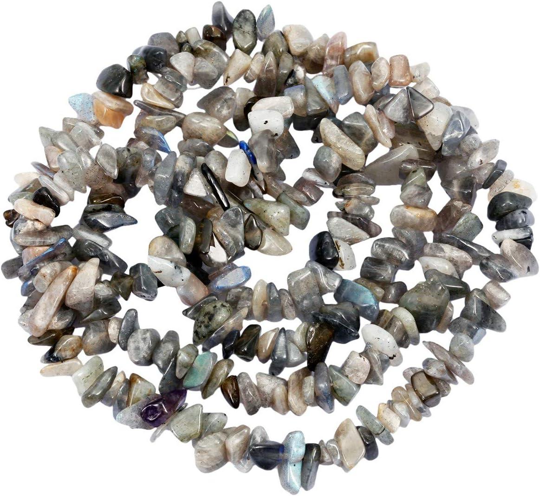 mookaitedecor - Perlas de Piedra Granel, pequeñas, Piedras pulidas irregularmente para Bricolaje, Collar curación y fabricación de Joyas, Lapislázuli, Gris & Bleu