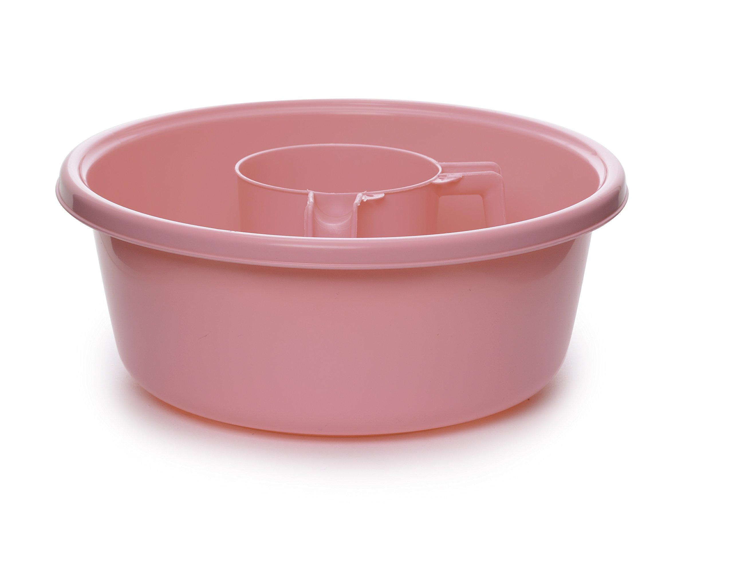 YBM Home Square Wash Cup & Round Wash Basin Netilat Yadayim, Negel Vasser Set Ba154-1148set-pink (1, pink)