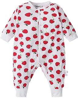 8f98044c1840 Kidsform Baby Cotton Romper Print Pajamas Footelss Button Bodysuit Onesie  Jumpsuit 3-24M