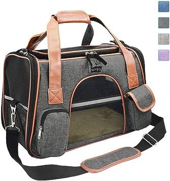 Amazon.com: Transportín de mascotas premium aprobado por la ...