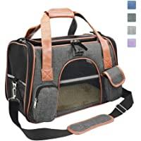 Purrpy Premium Cat Dog Carrier Airline Approved Soft Sided Pet Travel Bag, Car Seat Safe Carrier Deep Grey M …