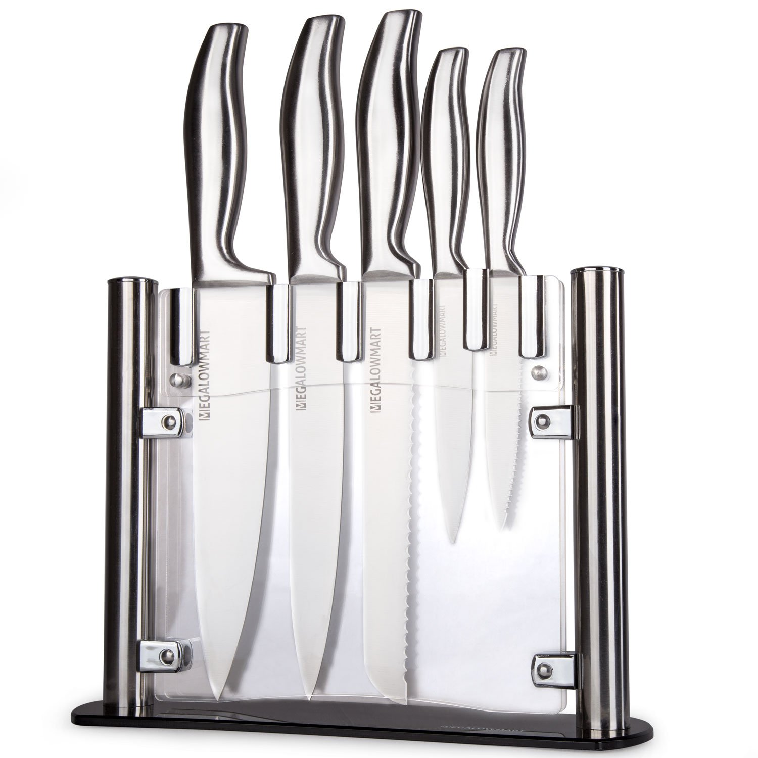 stainless steel kitchen knives set megalowmart professional 6 piece stainless steel kitchen knife set with ebay 3057
