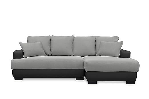 Furniture-r Francia sofá, de ángulo Gris y Negro ...