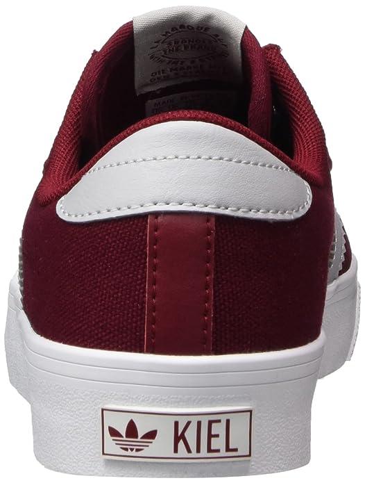 adidas Kiel, Chaussures de Gymnastique Mixte Adulte, Multicolore (Collegiate Burgundy/LGH Solid Grey/FTWR White), 44 2/3 EU