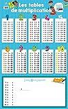Poster-ardoise - les tables de multiplication