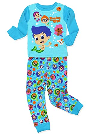 d5b59219f7 Bubble Guppies Toddler Boy s Girl s 2 Piece Long Sleeve Cotton Pajamas Set  (2T