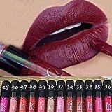 Binmer(TM) 12 PCS Waterproof Lip Gloss Matte Velvet Long Lasting Lipstick Pencil Cosmetic