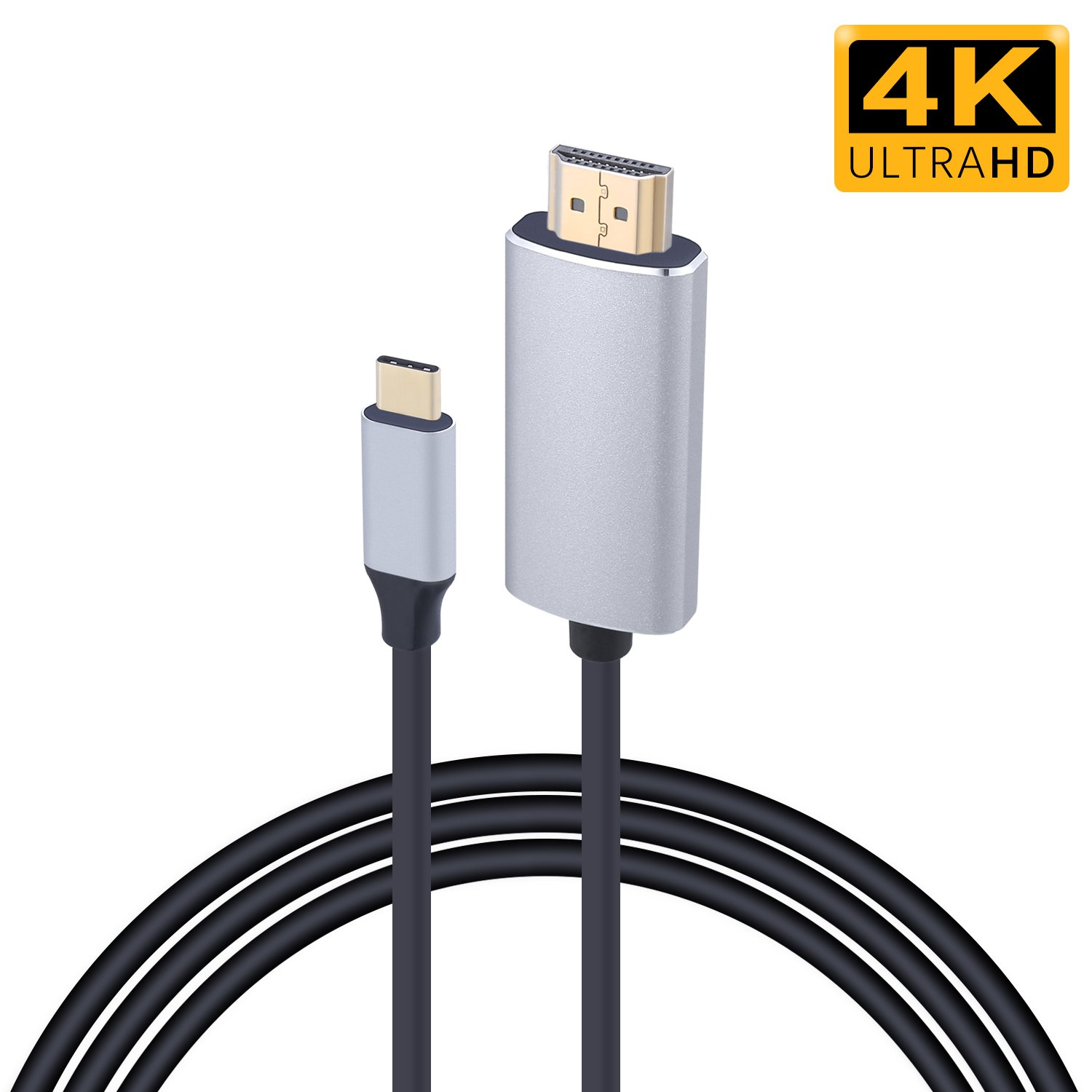 USB C to HDMI Sikeda 4K@60HZ USB Type C to HDMI Cable Adapter (Compatible with Thunderbolt 3) for 2017/2016 Macbook Pro, 2017 iMac, Galaxy S8/S8+, LG G5, Google Chromebook Pixel, TV/Monitor